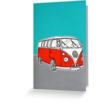 VW Camper Van ( Red )  Greeting Card