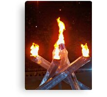 2010 Vancouver Winter Olympic Flame Canvas Print