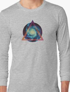 Space galaxy - triangle Long Sleeve T-Shirt