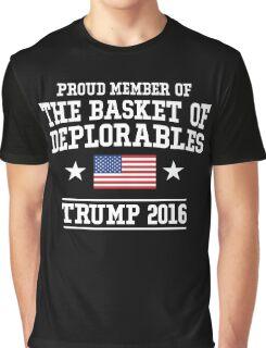 Proud Basket Of Deplorables T-Shirt, Funny Vote Trumph Shirt Graphic T-Shirt