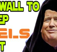 Donald Trumps space wall Sticker