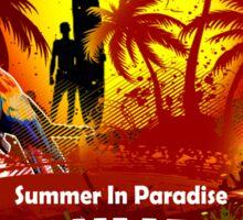 St Maarten Open Beach Party Sticker