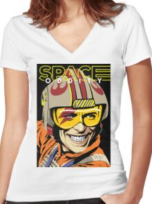 The Oddity Women's Fitted V-Neck T-Shirt
