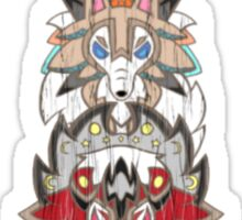 Rockruff Evolution Totem Pole Sticker