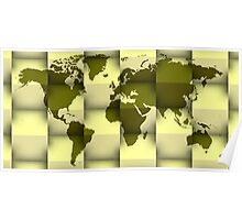 3d world map composition 4 Poster