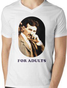 Tesla For Adults Mens V-Neck T-Shirt
