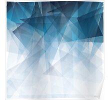 Ice Blue Fractals Poster