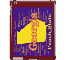Colorful Georgia State Pride Map Silhouette  iPad Case/Skin