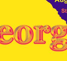 Colorful Georgia State Pride Map Silhouette  Sticker