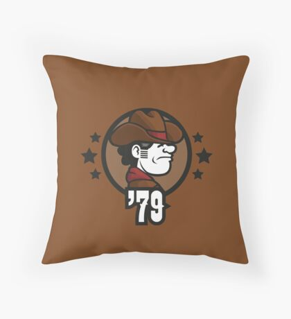 Video Game Heroes - Sheriff (1979) Throw Pillow