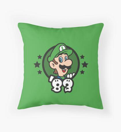 Video Game Heroes - Luigi (1983) Throw Pillow