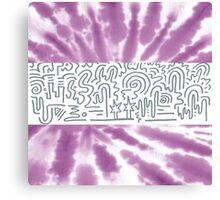 Clean Stripe (Purple Haze) Canvas Print