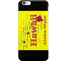 Colorful Hawaii State Pride Map Silhouette  iPhone Case/Skin