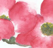 Red Dogwood Flowers in Watercolor Sticker