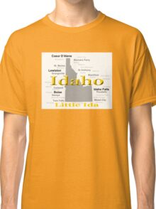 Idaho State Pride Map Silhouette  Classic T-Shirt