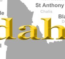 Idaho State Pride Map Silhouette  Sticker