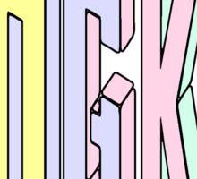 Pastel Collection: Bangkok  Sticker