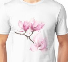 Watercolor Magnolia Blossoms Unisex T-Shirt