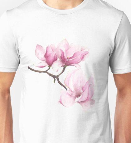 Watercolor Magnolia Blossoms Unisex T-Shirt