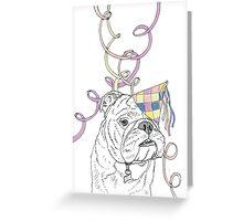 Party Animal ! Bulldog Greeting Card