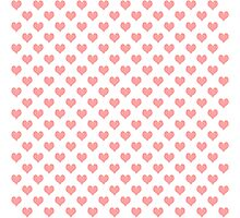 Seamless pattern with pink hearts Photographic Print