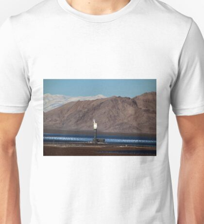 Boiling Tower at the Ivanpah Solar Electric Generating Facility Unisex T-Shirt
