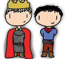 Merlin and Arthur by melliemellie