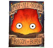 Howl's Moving Castle Illustration - CALCIFER (original)  Photographic Print