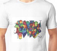 Rainbow calligraphy alphabet Unisex T-Shirt