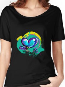 Blue-ish Heart [3] Women's Relaxed Fit T-Shirt