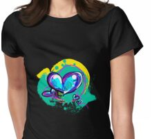 Blue-ish Heart [3] Womens Fitted T-Shirt