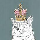 Grumpy Cat In A Crown by Adam Regester