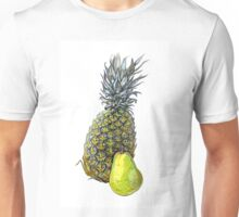 Pineapple on white background. Unisex T-Shirt