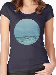 Ocean Meets Sky Women's Fitted Scoop T-Shirt