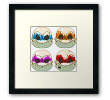NINJA TURTLES - SKULL Framed Print