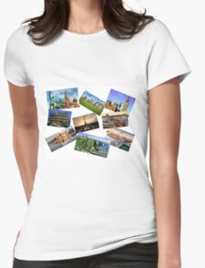 Europe Collage Womens Fitted T-Shirt