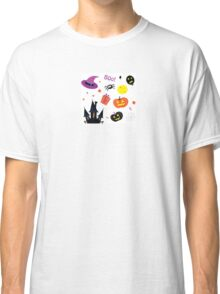 Halloween icons set isolated on white Classic T-Shirt