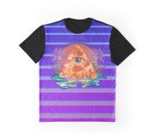 Vaporwave- Pizza -logo Graphic T-Shirt