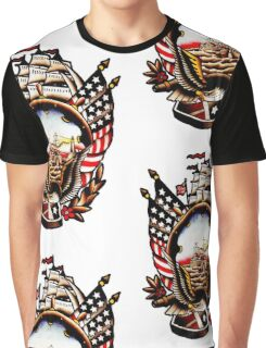 American Navy Ship Eagle Tattoo design Graphic T-Shirt