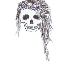 Skull with Braid by Charlotte Fare