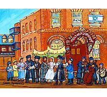 KLEZMER BAND PLAYS AT JEWISH WEDDING UNDER THE CHUPA Photographic Print