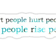 wise people rise people Sticker