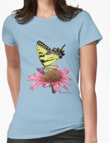 Swallowtail and Coneflower Womens Fitted T-Shirt