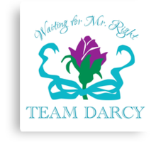 Team Darcy Mr. Right Canvas Print