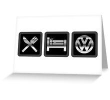 Eat Sleep VW Greeting Card