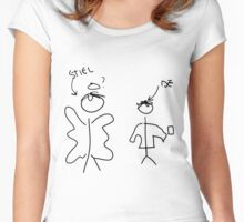Misha Collins Destiel Doodle Women's Fitted Scoop T-Shirt