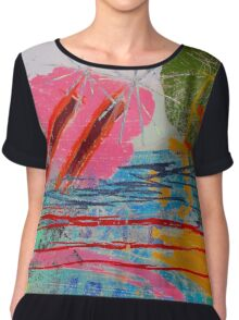 Tide Waters Chiffon Top