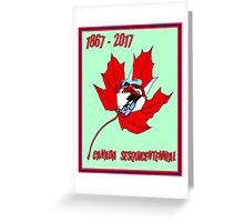 CYCLING CANADA; Sesquicentennial Celebration Print Greeting Card