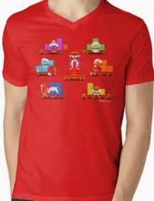16-bit Old Tetriminos Mens V-Neck T-Shirt