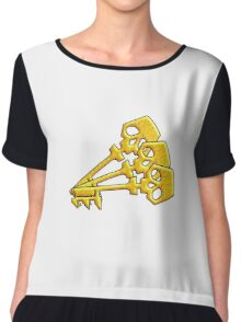 Borderlands Golden Keys Chiffon Top